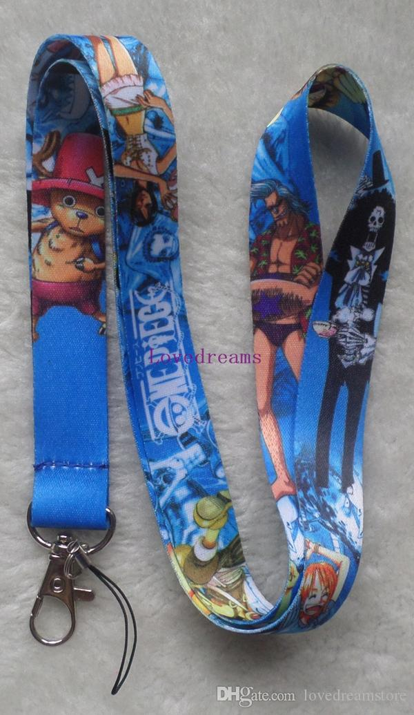 One Piece key lanyards id badge holder keychain straps for mobile phone