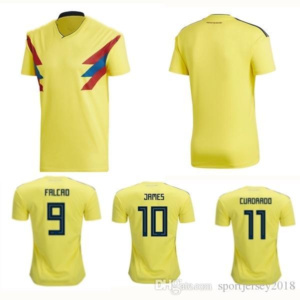 2018 Copa Del Mundo De Tailandia Calidad Envío Gratis Colombia Camisetas De  Fútbol Nacional Falcao Valderrama James Cuadrrdo Camiseta De Fútbol Venta  ... a69559fb0b03d
