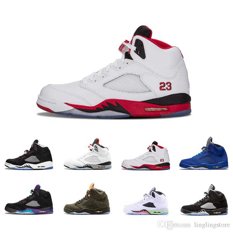 5ea5da665acc82 2019 5 5s Classic Fire Red Mens Basketball Shoes OG Black Metallic Black  Grape Oregon Ducks Oregon PE Olympic Gold Medal Brown Sports Sneakers From  ...
