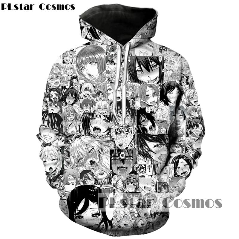 db6eb9e82874b0 2019 PLstar Cosmos 2017 Harajuku Anime 3d Hoodies Men Women Tracksuits  Ahegao Collage Print Shy Girl Sexy Hipster Hoody Sweatshirt From Odelettu