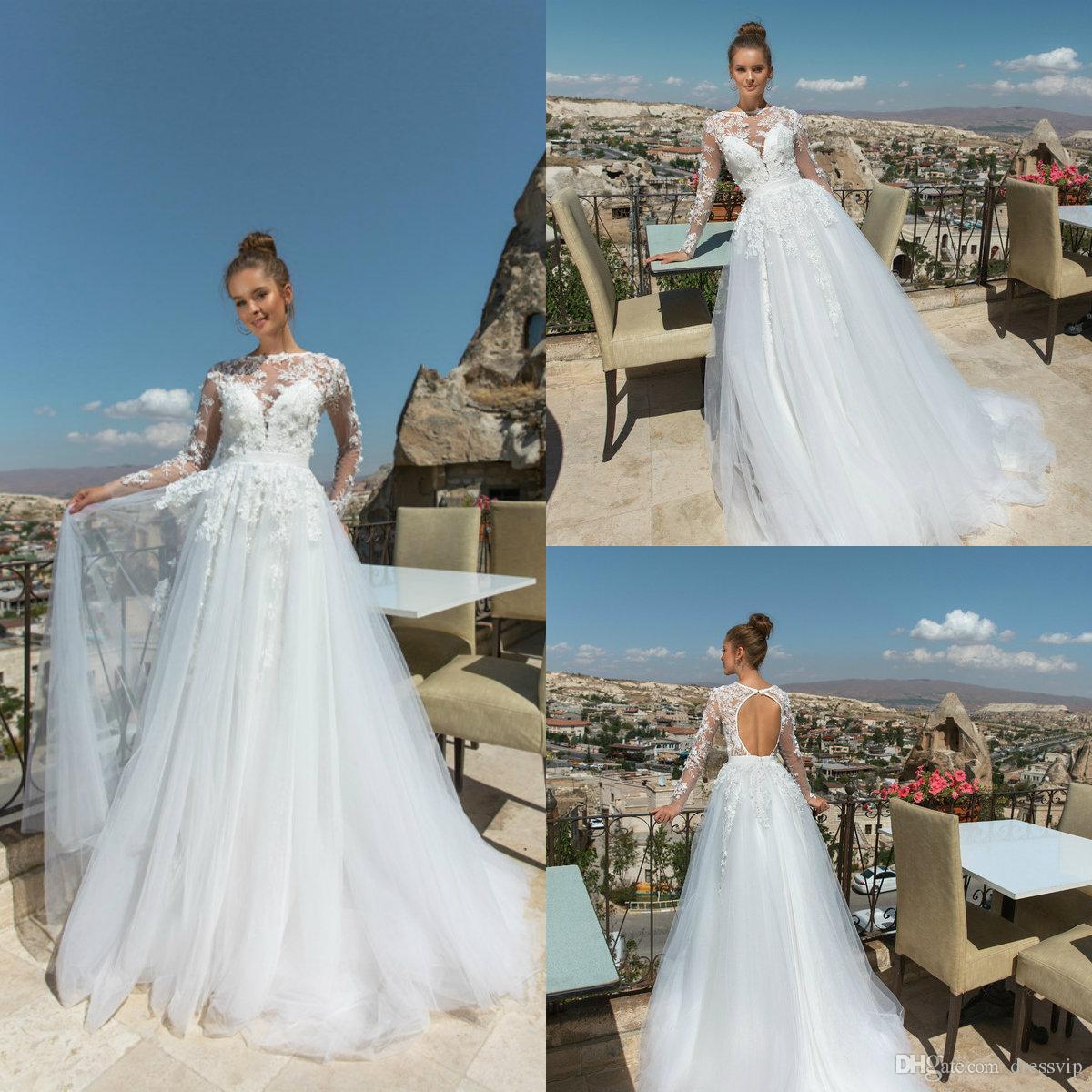 Discount 2018 Eva Lendel Beach Wedding Dresses Lace Tulle Applique ...