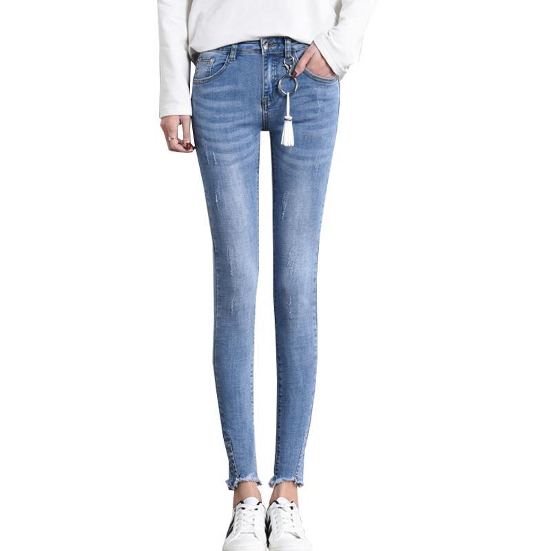 Compre 2018 Tallas Grandes Jeans Mujer Jeans Mujer Delgada 6XL Para Mujer  Talla Grande 4XL Lápiz De Mezclilla Negro Pantalones De Gran Tamaño A   49.88 Del ... 329882f6a2d9