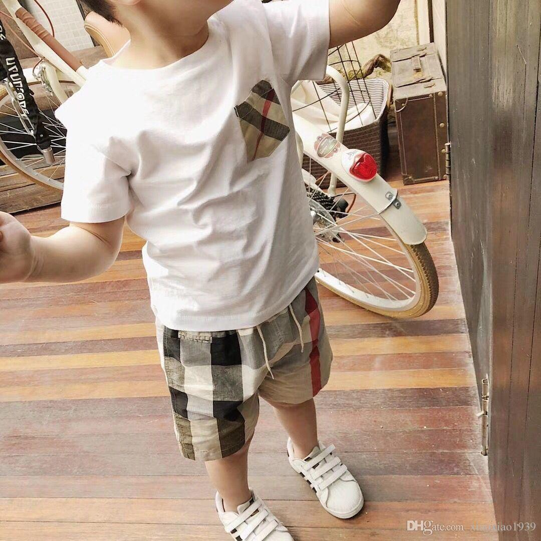 2018 Hot Brand Children Summer Boys Clothes Cartoon Handsome Kids Boy Clothing Set T-shit+Pants Cotton