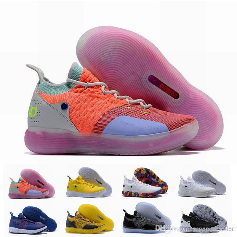 0d2571c83baa New KD 11 Men Basketball Shoes Still KD EYBL Multi Color Paranoid Cool Grey  Mens Sneakers Kevin Durant 11s Designer Brand Shoes Trainers Loafers For Men  ...