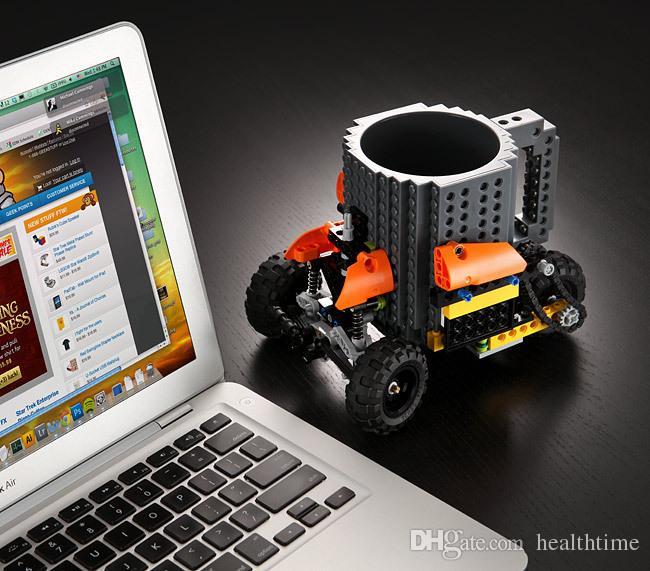 Nuove vendite dirette LEGO LEGO Cup Assemblaggio fai-da-te Tazza da caffè Tazza Assemblaggio creativo Pressione Tazza d'acqua Spedizione gratuita