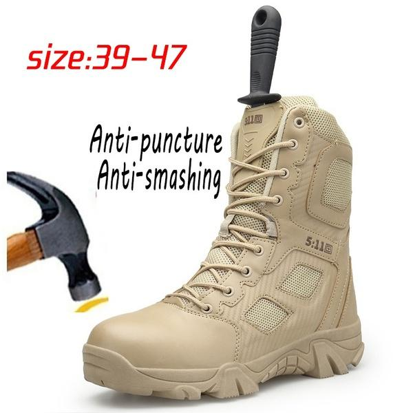 32a1c2fda8e Men s Military Army Tactical Boots for Men Outdoor Waterproof Side Zip  Hiking Hunting Shoes(size:39-47)