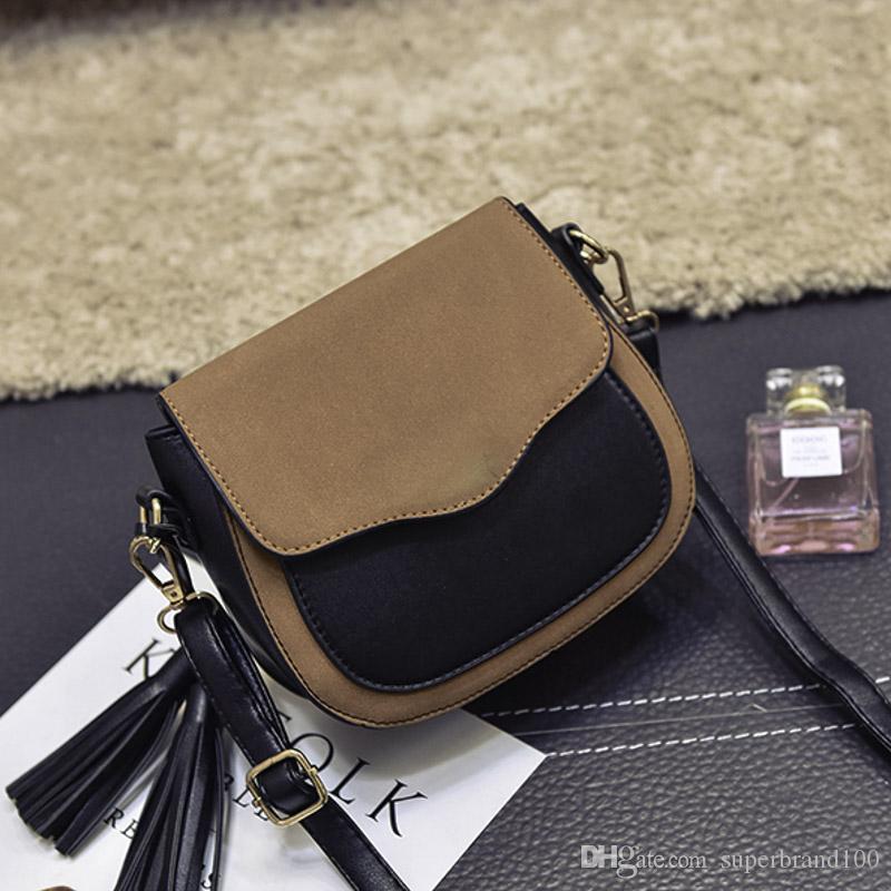 Neue Trend Frauen Handtaschen Casual Retro Einfache Klappe Mode Umhängetasche Quaste Ornamente Frau Umhängetasche