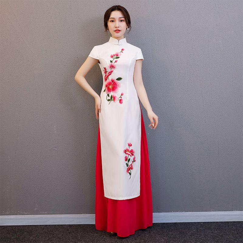 ea3c478fb 2019 Plus Size S 4XL Wedding Party Cheongsam Chinese Traditional Womens  Elegant Qipao Evening Dress AO Dai Long Robe Retro Vestido From Yonnie, ...