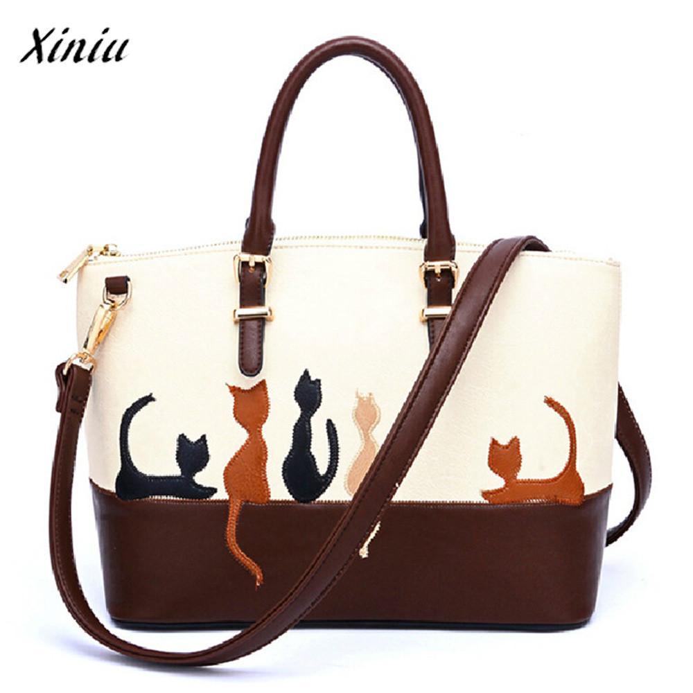 333ec07463f Xiniu Quality Cute Handbags Women Cat Leather Shoulder Bag Cross Body Purse  Handbags Messenger Bag Michael Hors Handbag Bolsas Womens Purses Evening  Bags ...
