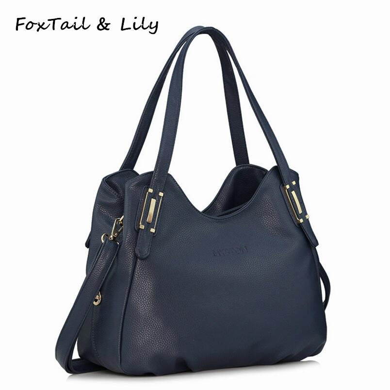 7639dcd34326 FoxTail   Lily Genuine Leather Bag For Women Luxury Brand Designer Real  Leather Handbags Ladies Casual Shoulder Messenger Bags Handbags For Sale  Fashion ...