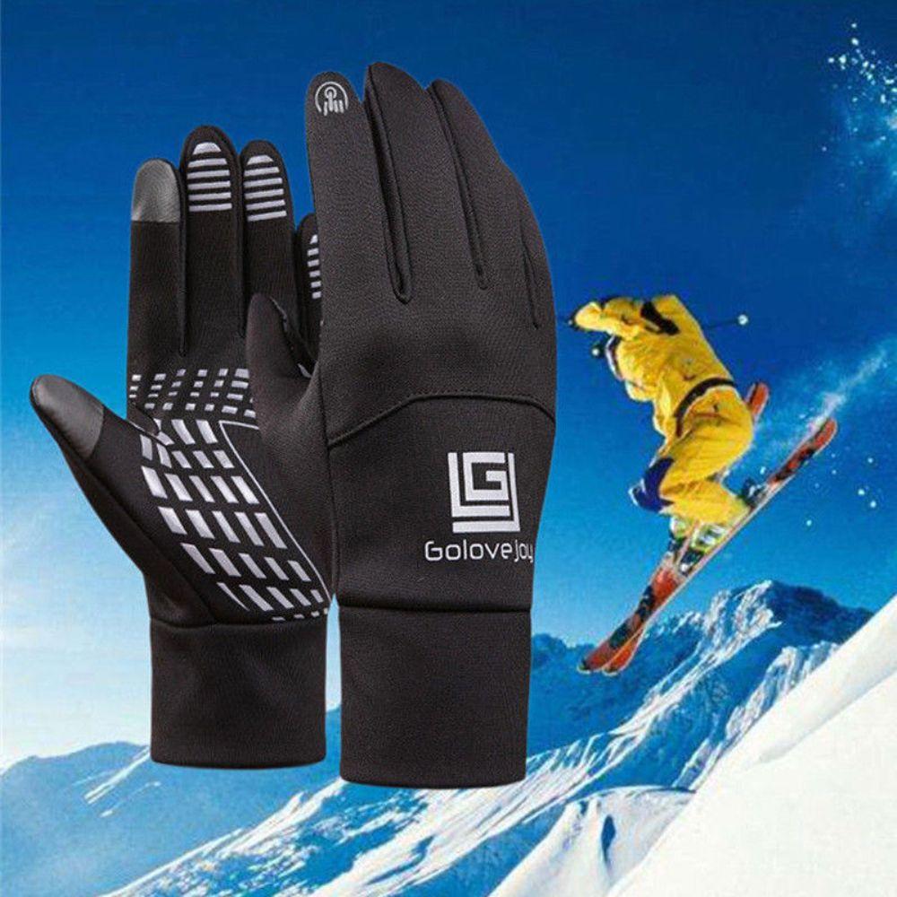 Waterproof Fleece Men Women Cycling Goloves Wind-proof Thermal Touch Screen Outdoor Sport Cycling Bike Snowboard Gloves Cycling Gloves Sports & Entertainment