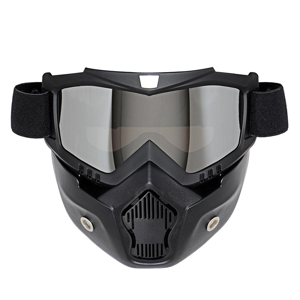 081790b53b NEW Retro Motorcycle Goggles Glasses Face Dust Mask With Detachable Nose  And Face Sunglasses Gafas Oculos Motocross Helmet Motorcycle Prescription  Glasses ...