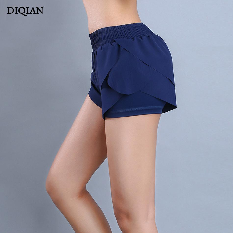 48a71cfffd 2019 DIQIAN Cute Ruffle Yoga Shorts For Women 2 Layers Running Breathable  Shorts Quick Dry Gym Sports Ladies Activewear From Simmer, $22.39 |  DHgate.Com