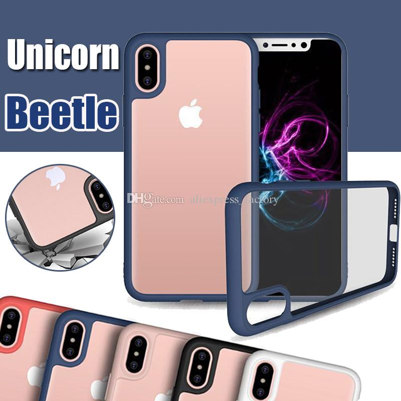 meet e7581 e911c Unicorn Beetle Hybrid Camera Lens Protective Slim Transparent Case Cover  For iPhone XS Max XR X 7 6 6S Plus 5 5S Samsung Galaxy Note 8 S8