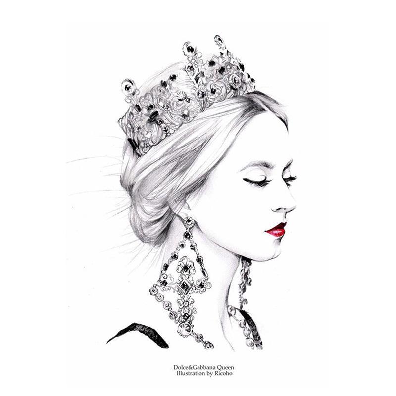 Satın Al Taç Kırmızı Dudaklar Kraliçe 5d Tam Kare Elmas Boyama