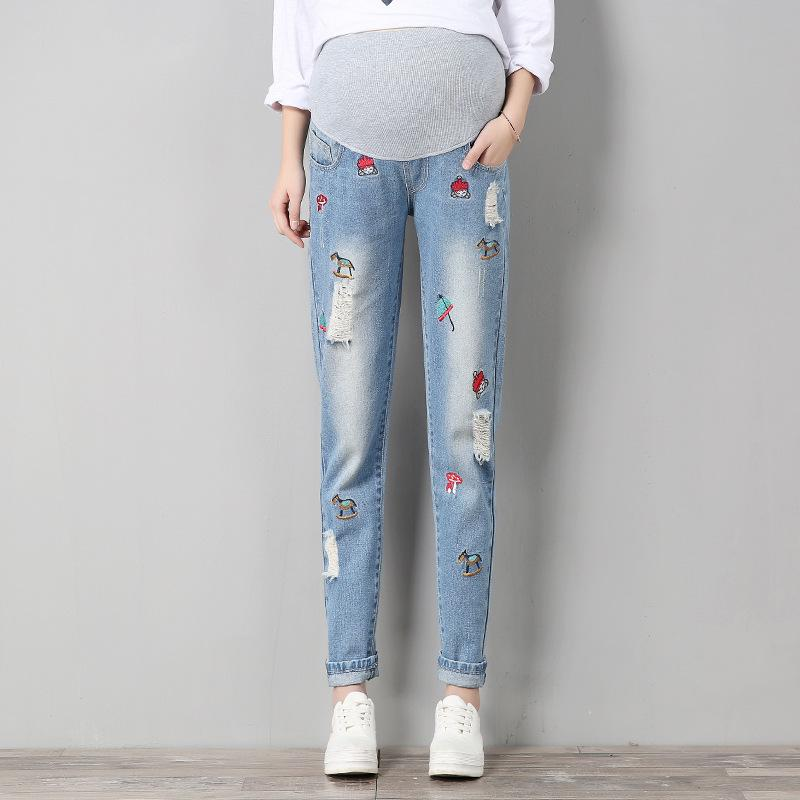 88bf8f62c1a2b 2018 Maternity Nine Cents Jeans Pants for Pregnant Women Clothes for Pregnancy  Jeans Slim Maternity Clothing M96 Jeans Cheap Jeans 2018 Maternity Nine  Cents ...
