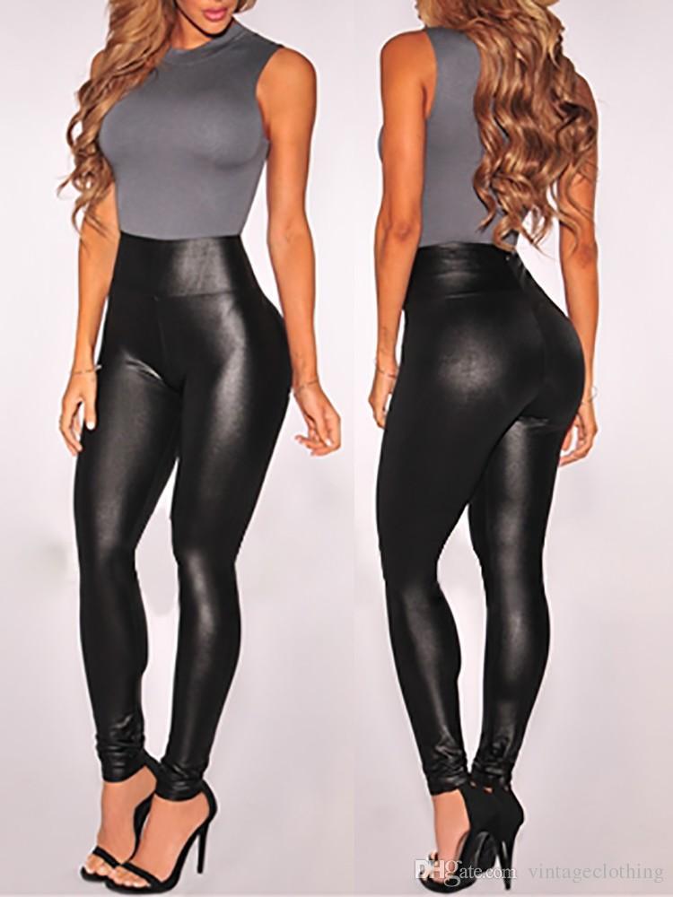 النساء السود اللباس الداخلي مثير جلدية صالح سليم اللباس مرونة عالية نادي أحذية النمط سروال جلدية اللباس