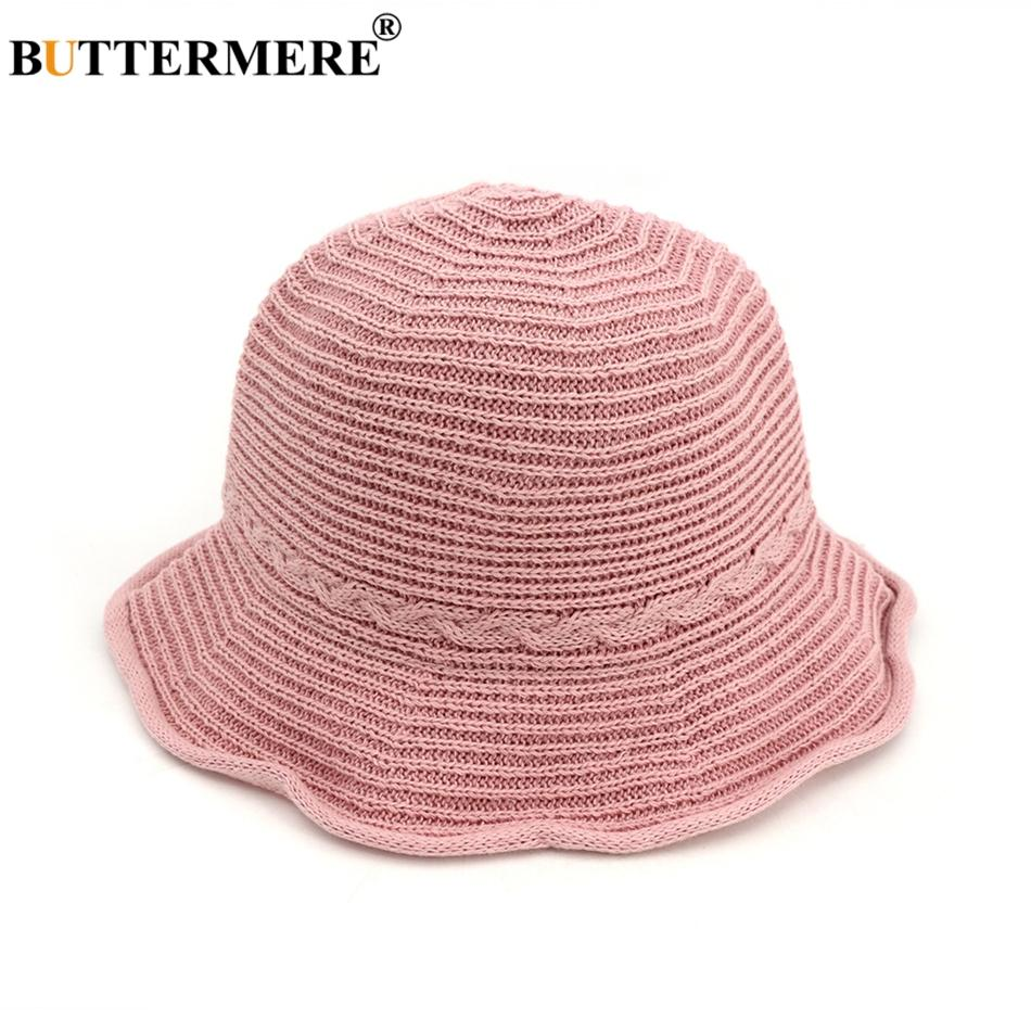d720a92ffb922 BUTTERMERE Pink Ladies Bucket Hat Ruffles Summer Spring Designer Sun Hats  Beach Female Fishing Caps Kawaii Foldable Stylish Sun Hat Straw Hats From  ...