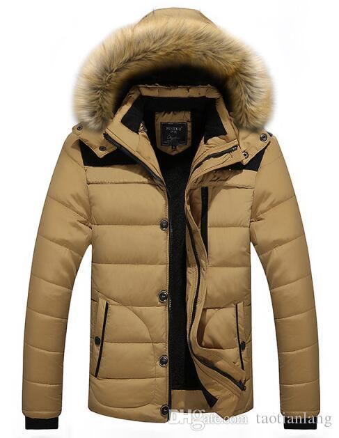 aaf0ae72a79 2019 Plus Size Men Winter Jackets Coats 5XL Warm Down Jacket Outdoor Hooded  Fur Mens Thick Faux Fur Inner Parkas Famous Brand J180841 From Taotianlang