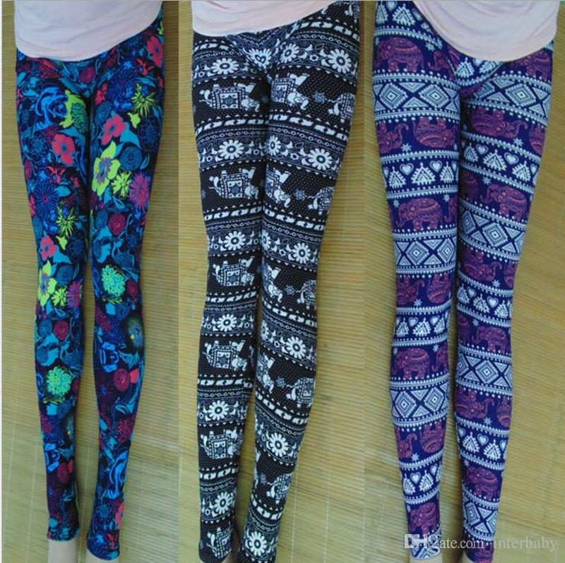 a70542090c 2019 Women Winter Pants Christmas Snowflake Leggings Xmas Stretch Girls Mom  Casual Trousers Snowflake Reindeer Print Women S Tights Pants YL551 From ...