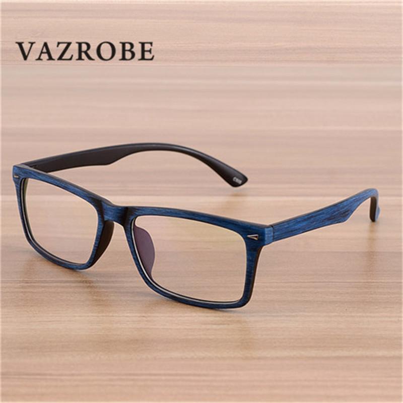 Compre Vazrobe Vintage Grão De Madeira Óculos Homens Óculos De Armação Para  O Homem Lente Óptica Quadrado De Plástico Óculos Para Prescrição Masculina  De ... c4d6be9daf