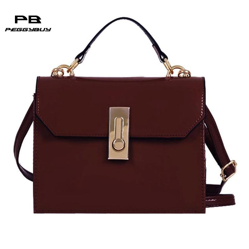 05889e8cbf51 Simple Patent Leather Women Vintage Crossbody Handbag Solid Patent Square  Messenger Shoulder Bag For Girls Female Daily Use Bag Fiorelli Handbags  Patricia ...