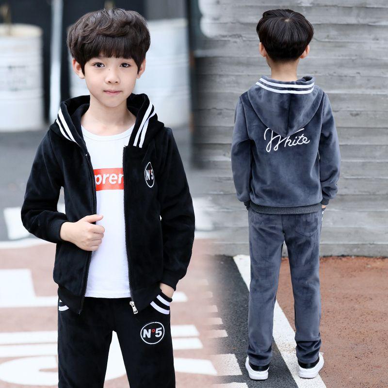 e1b5547b4 2019 FYH Kids Clothes Boys Spring Autumn Set Teenagers Boys Casual ...
