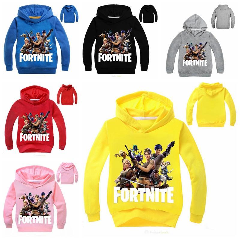 322c981e5 New Style Boys Girls FORTNITE Hoodies Children Game Cartoon Fortnite ...