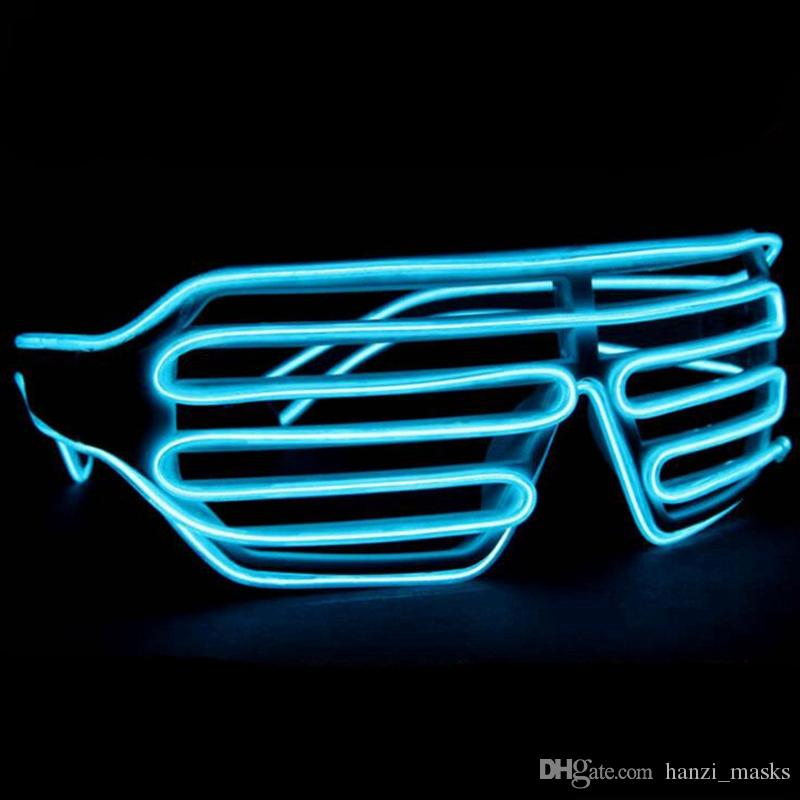 Hanzi_masks Blinds Modes Flash EL Flash Glasses Luminous Lighting Colorful Glowing DJ Glasses Classic Carnival Dance Bar Party
