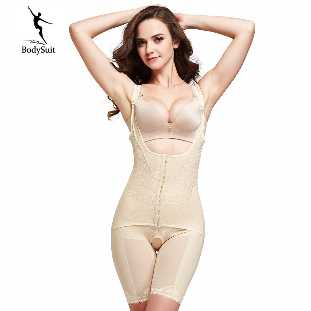 Women Shapewear Bodysuits Bamboo Fiber Seamless Bodysuit Girdles Body Shaper Bodysuits Lift Rear Slim Tummy Control Shapewear Attractive Appearance Shapers Women's Intimates