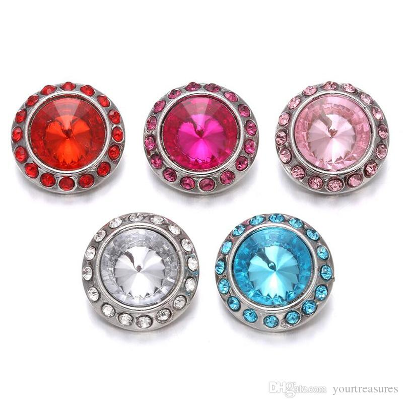 2019 2019 High Quality Rhinestone Round Snap Buttons For Snap Button  Jewellery DIY Ginger Charms Button Jewelry From Yourtreasures 56c8554b9ed1