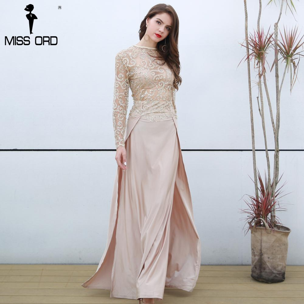 c94a9a43 Missord Fashion 2018 Flash Sexy High-necked Long-sleeved Sequin Split Dress  FT5171 D18110606 Online with $52.44/Piece on Xiao0002's Store | DHgate.com
