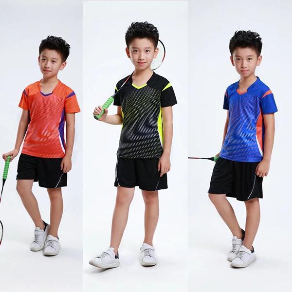 257973e14479 Compre Conjunto De Ropa De Bádminton Para Niños, Chándal De Tenis Deportivo  Para Niñas, Conjunto De Bádminton Para Niños, Traje De Tenis, Bádminton, ...