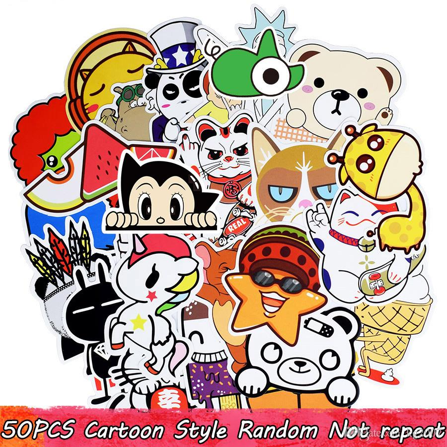 Waterproof Random Stickers DIY Poster Wall Blackboard Home Decoration Stickers Luggage Motorcycle Car Sticker Kid Adult Creative Gift