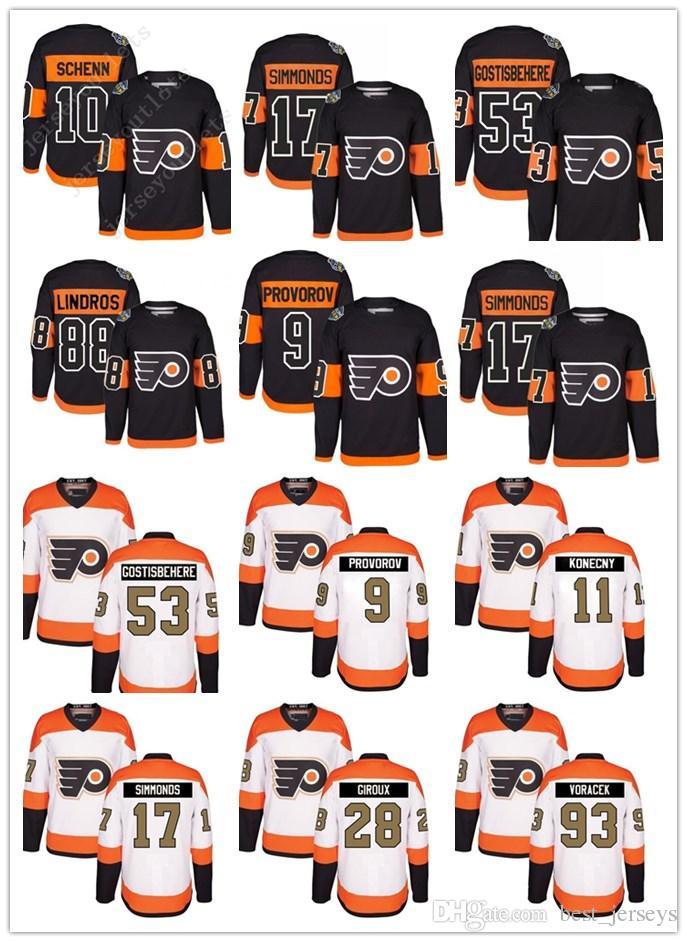 2019 2018 Stadium Series Premier Jersey Men Philadelphia Flyers 53 Shayne  Gostisbehere 17 Wayne Simmonds 9 Ivan Provorov 28 Claude Giroux Hockey From  ... 0a8e5fb09