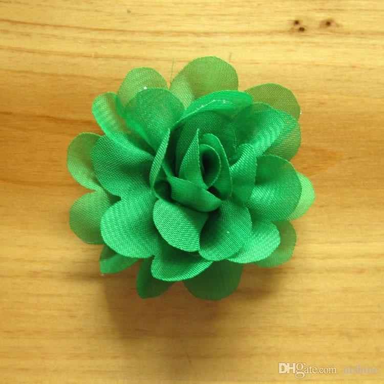 "Nishine 2"" Mini Chiffon Flowers For Children Headband Hair Clips Diy Headwear Kids Girls Cloth Hair Accessories"