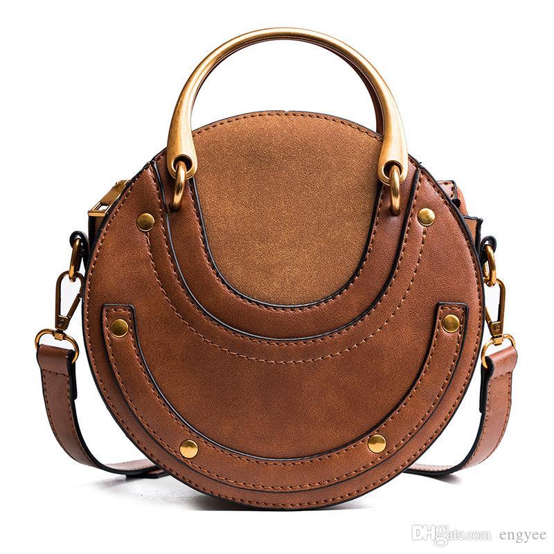 2018 New Fashion Metal Ring Handbag One Shoulder Cross-body Bag ... e36d1986de495