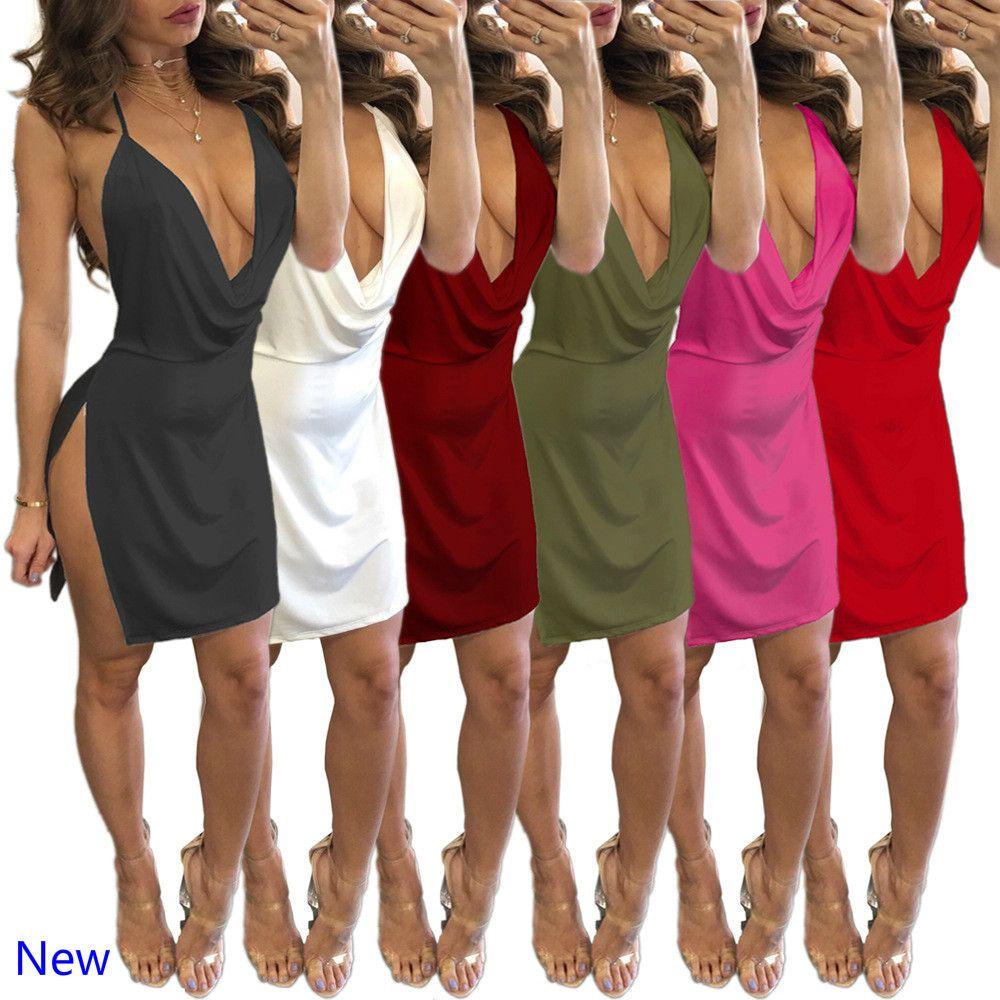 fdcc2314a24 Summer Women Lace Dress Sexy Backless V-neck Beach Dresses 2018 ...