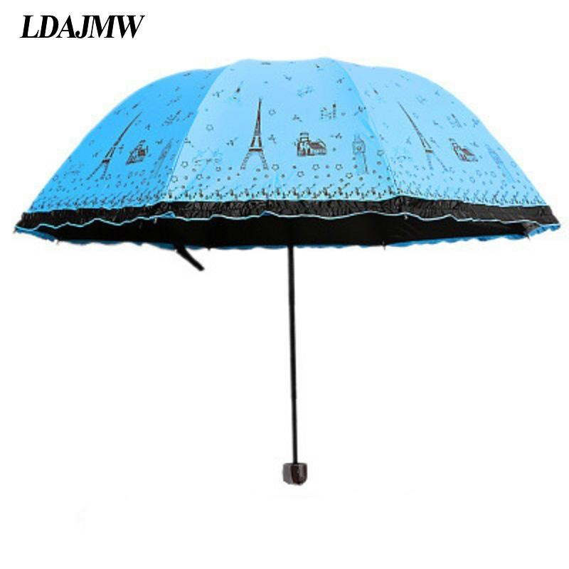 Ldajmw Hot Korean Princess Appollo Paris Tower Umbrellas Sunshade