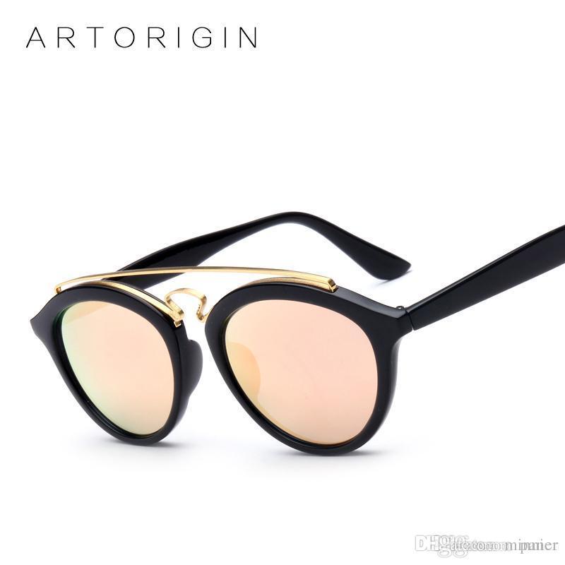 Double Mirror Oculos Women Artorigin Bridge De Sol Sunglasses Designer Gatsby Ladies Glasses Brand Sun Style jcARS3q54L