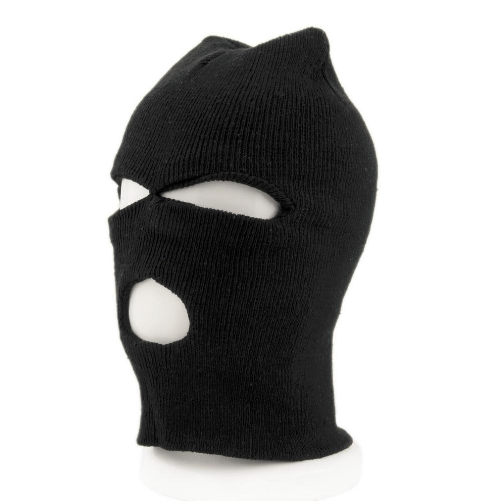 3c9f8be4c15 2019 Face Mask Bike Full Face Cover Ski Mask Three 3 Hole Balaclava Knit Hat  Winter Stretch Snow Beanie Bike Hat Cap New From Ahaheng