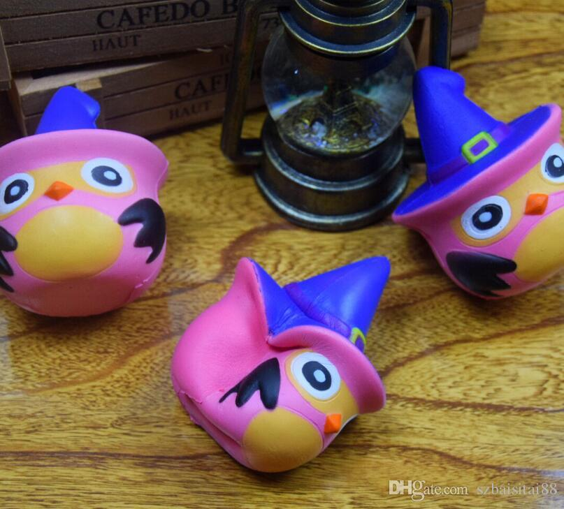 Squishy 10CM Knights Owl Kawaii Cute PU Soft Slow Rising Phone Strap Squeeze Break Kids Toy Relieve Anxiety Fun Gift New