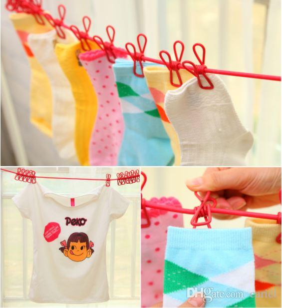 Clothesline With Clips Hotselling Portable Multi Functional Drying