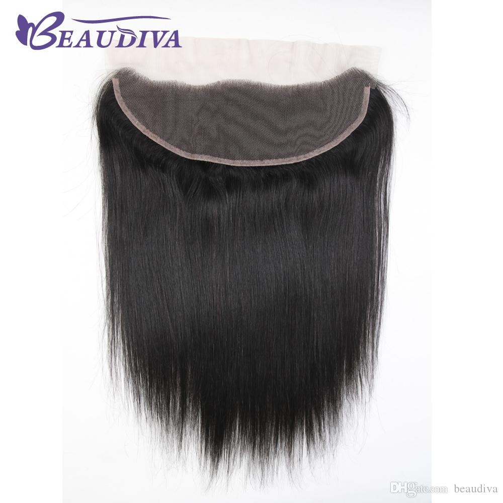 Beau diva Brazilian Straight Hair Weave Bundles With Frontal Closure 13x4 Ear To Ear Lace Frontal With Bundles Human Hair Extension