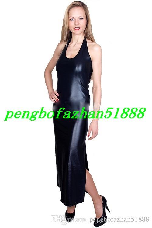 Neue Frauen Lange Kleider Sexy 15 Farbe Glänzende Metallic Kleider Sexy Frauen Nachtclub Kleider Langen Rock Halloween Party Kostüm Anzug P250