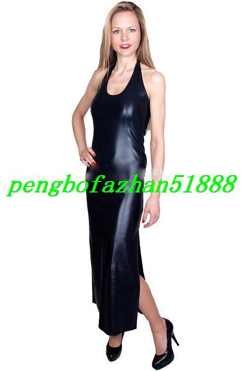 New Women Long Dresses Sexy Shiny Metallic Dresses Sexy Women Nightclub Dresses Long Skirt Halloween Party Fancy Dress Suit P250