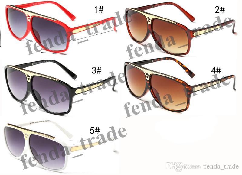 Promoção de qualidade superior marca de moda mulheres do vintage das mulheres homens designer de marca brilhante moldura de ouro laser GRANDE QUADRO PRETO 0350 MOQ =