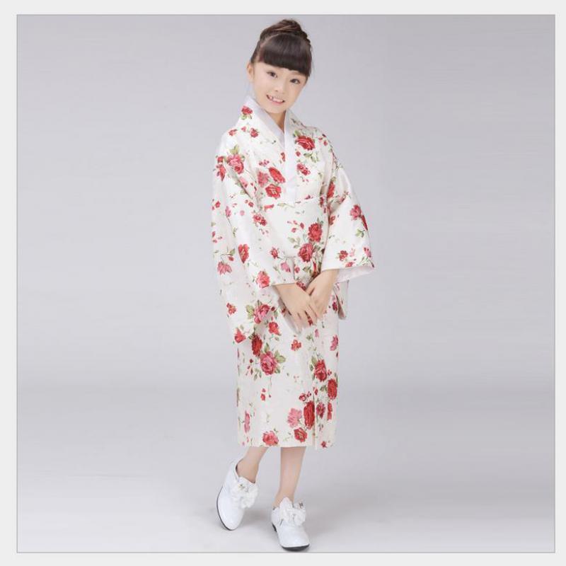6702898fa Stylish Flower Japanese Baby Girl Kimono Dress Cute Kid Yukata With Obi  School Girl Dance Dress Child Cosplay Costumes B-073 Asia & Pacific Islands  Clothing ...