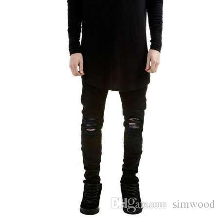 40bf58e8f1b0d7 2019 Ripped Jeans For Men Skinny Distressed Slim Famous Brand Designer  Biker Hip Hop Swag Tyga White Black Jeans Kanye West From Simwood, $40.97 |  DHgate.