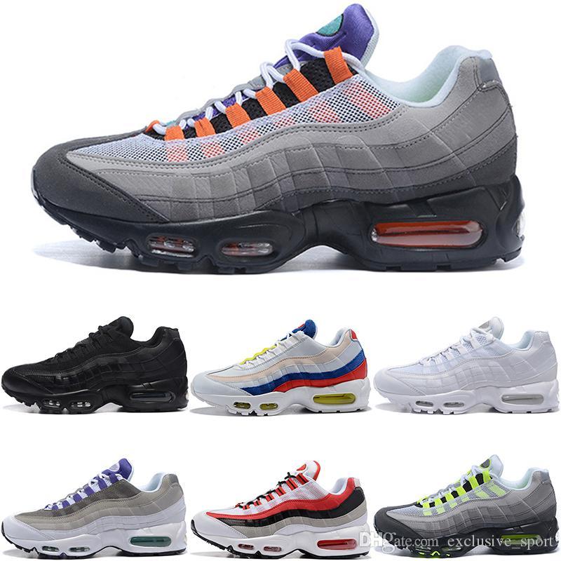 info for 1868e eaf3c Men Women 95 95s What The Running Shoes OG Neon Grape Triple Black White TT  University Red Discount Trainer Sport Sneakers Size 36-46